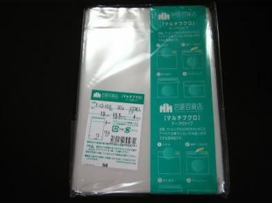 OPP袋テープ付 T-13×13.5(100枚)