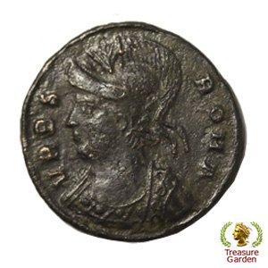 [古代ローマコイン コンスタンティヌス1世 銅貨] 有名なロムルスとレムス オオカミ 狼 no.12 (アンティークコイン販…