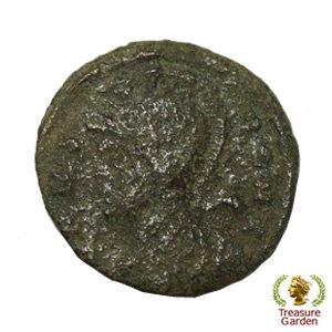 [古代ローマコイン コンスタンティヌス1世 銅貨] 有名なロムルスとレムス オオカミ 狼 no.13 (アンティークコイン販…