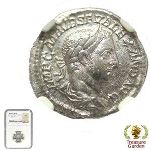 [古代ローマコイン アレクサンデル・セウェルス帝 デナリウス銀貨] フィデース神 【NGC鑑定 VF】 no.4