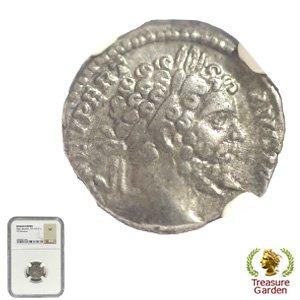 [古代ローマコイン セプティミウス・セウェルス帝 デナリウス銀貨] 【NGC鑑定 VF】 no.2