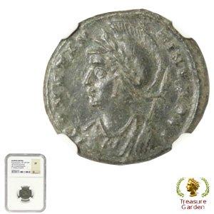 [古代ローマコイン コンスタンティヌス1世  AE3/4銅貨] コンスタンティン1世 【NGC鑑定 XF】 no.2