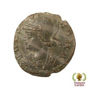 [古代ローマコイン コンスタンティヌス1世 銅貨] 有名なロムルスとレムス オオカミ 狼 フランクリンミント no.…