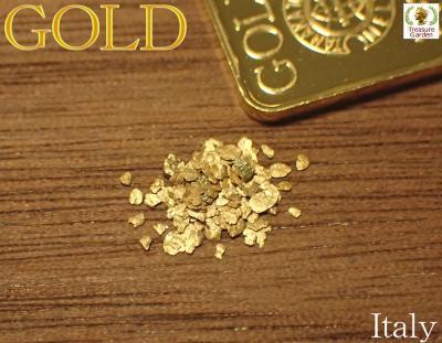 イタリア産 自然金 30粒セット  (ゴールド/ナゲット/原石/砂金)