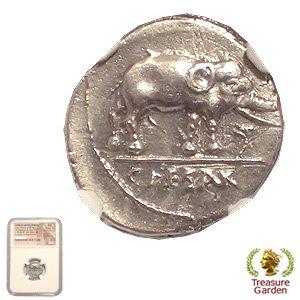 古代ローマコイン 共和制 ユリウ...