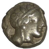 古代ギリシャコイン アッティカ テトラドラクマ銀貨 BC460-404 女神アテナ/フクロウ/ふくろう/梟