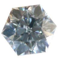 天然ダイヤモンド Fカラー 0.21ct VS1 六角形 高品質