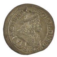 神聖ローマ帝国 レオポルト1世 銀貨 1678年/中世ヨーロッパのコイン チュートン騎士団
