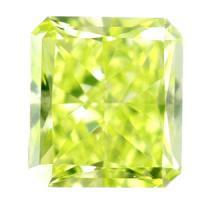 グリーンダイヤモンド Fancy Intense Yellow Green 0.133ct アップルグリーン 天然カラーダイヤモンド
