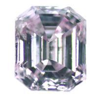 天然ピンクダイヤモンド Fancy Purplish Pink 0.220ct アーガイル鉱山産 エメラルドカット
