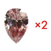 天然ピンクダイヤモンド Fancy Intense Pink 0.048ct VS1のペア・カップルルース