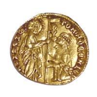 中世イタリア ヴェネツィア ゼッキーノ金貨 1414-1423年 アンティークコイン販売