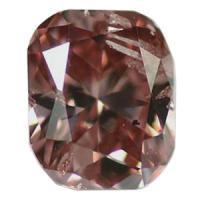 ピンクダイヤモンド Fancy Vivid Orangish Pink 0.247ct 大きめ!!クッションカット