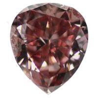 ピンクダイヤモンド Fancy Intense Pink 0.285ct 大きめ!!約0.3ct 鑑定書つき