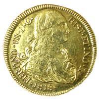 [コロンビア 1818年 カルロス4世 8エスクード 大型金貨] /アンティークコイン販売