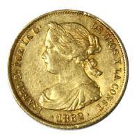 [スペイン 1862年 イザベラ2世 100レアル 金貨] /アンティークコイン販売