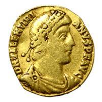 古代ローマコイン ウァレンティニアヌス1世 ソリダス金貨  古代コイン/アンティークコイン販売