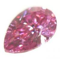 ピンクダイヤモンド Fancy Vivid P.Pink 0.061ct まるでレッドダイヤモンド!ピンクダイア