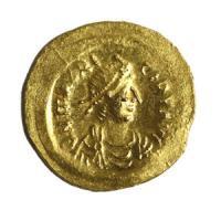 古代ビザンチン帝国 セミシス金貨 スウリス・ティベリウス帝