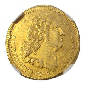 ドイツ 1733年 カール3世フィリップ 1/2カロリン金貨 NGC鑑定XF45 アンティークコイン販売