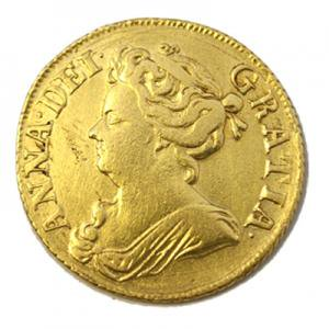 イギリス 1710年 アン女王 1ギニー金貨 アンティーク金貨/アンティークコイン