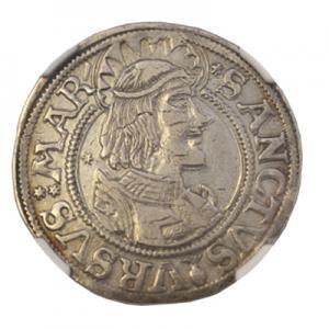スイス ディッケン 銀貨 ゾロトゥルン 1549-1556 NGC鑑定 VF35 アンティークコイン