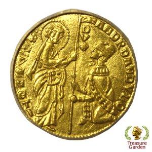 中世イタリア ヴェネチア 1343-1354年 ダカット金貨(ゼッキーノ) ICG-MS63 アンティークコイン販売
