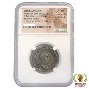 古代ローマコイン ヘレンニウス...