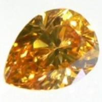 オレンジダイヤモンド F.D.Yellowish Orange 0.080ct 天然カラーダイヤモンド