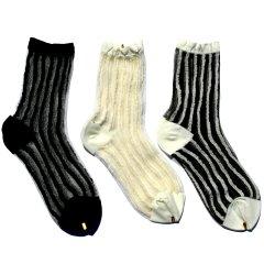 たてmocoショート3足(白)(白白)(黒)*シースルー素材