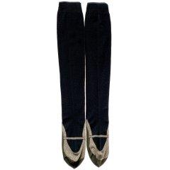 おでかけ靴下ハイソックス(ゴールド)(22-26cm)