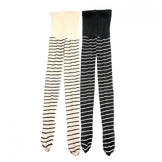 2足セット よこmocoタイツ (ホワイト)(ブラック)(22-26cm)