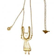 うさぎさん ネックレス 真鍮(ロジウムメッキ)ゴールド