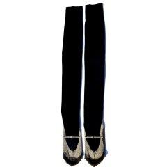 おでかけ靴下オーバーニー(ゴールド)(22-26cm)
