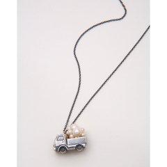 あなたに会いに チェーン部分の素材:アンティーク加工 真鍮 パール:本真珠 白