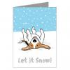 Snow Holiday グリーティングカード