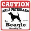 CAUTION サイン<ビーグルがパトロールしています>