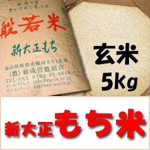 平成29年産  特別栽培米 新大正もち 玄...