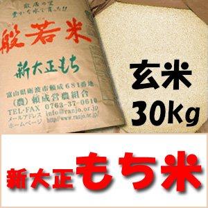 平成29年産  特別栽培米 新大正もち 玄米 30kg
