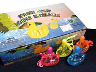 シャボン玉 RUBBER DUCKY BUBBLE NECKLES(24個入り)単品参考上代50円