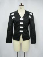 黒ブライダルサテンジャケット