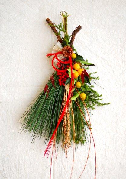 ひと葉のお正月飾り・戌
