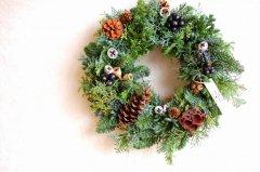 エバーグリーンのクリスマスリース・L