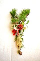 ひと葉のお正月飾り・丸〆飾りアレンジバージョン