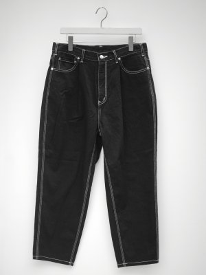<img class='new_mark_img1' src='//img.shop-pro.jp/img/new/icons14.gif' style='border:none;display:inline;margin:0px;padding:0px;width:auto;' /> JieDa TAPERED DENIM PANTS O/W (BLK)