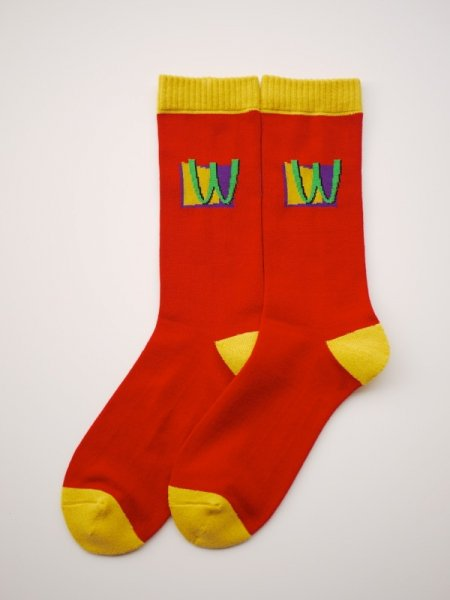 WHIMSY 32/1 POISON SOCKS (RED)