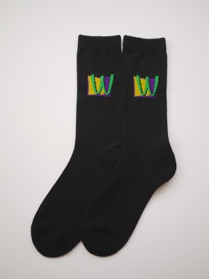 <img class='new_mark_img1' src='//img.shop-pro.jp/img/new/icons14.gif' style='border:none;display:inline;margin:0px;padding:0px;width:auto;' />WHIMSY 32/1 POISON SOCKS (BLK)