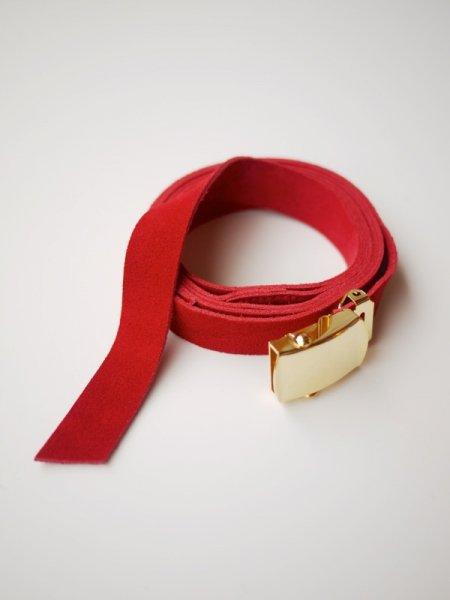 Sasquatchfabrix. LEATHER GI BELT (RED)