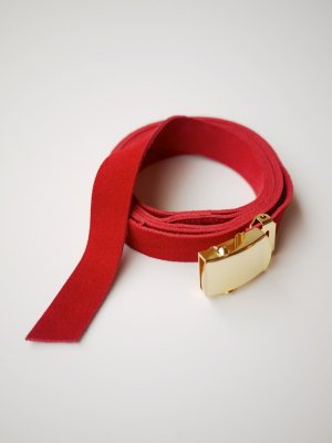 <img class='new_mark_img1' src='//img.shop-pro.jp/img/new/icons47.gif' style='border:none;display:inline;margin:0px;padding:0px;width:auto;' />Sasquatchfabrix. LEATHER GI BELT (RED)