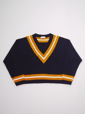<img class='new_mark_img1' src='//img.shop-pro.jp/img/new/icons47.gif' style='border:none;display:inline;margin:0px;padding:0px;width:auto;' />NEON SIGN COLLEGE SWEATER (NVY)